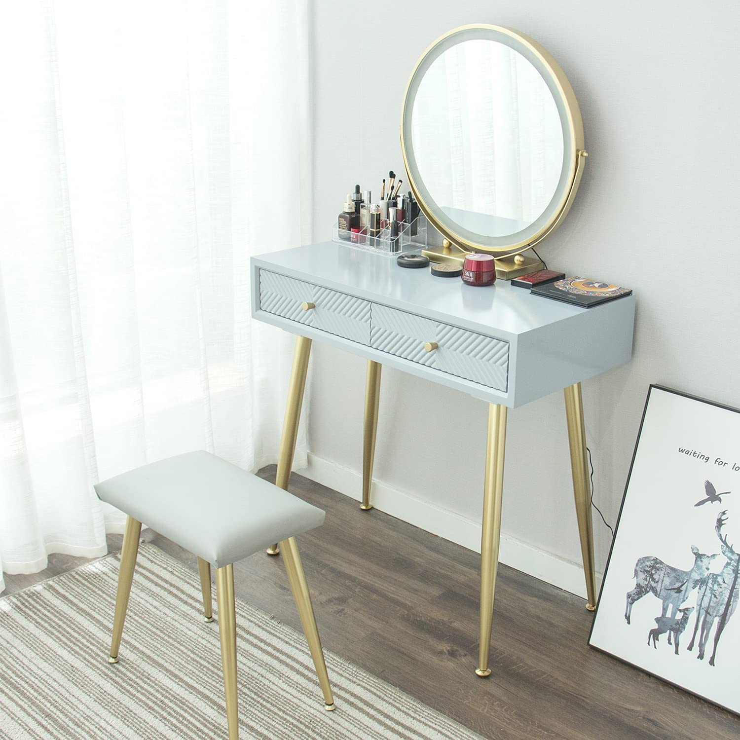 YOURLITEAMZ Makeup Vanity Table Be super welcome Set Adjustable Lighted with OFFicial 3 LE
