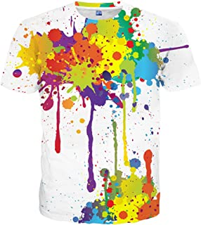 neon paint splatter shirt
