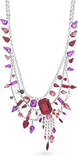 Women's Rhinestone Double Layered Necklace