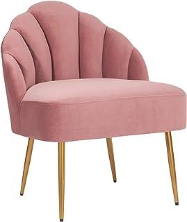 """Amazon Brand � Rivet Sheena Glam Tufted Velvet Shell Chair, 23.5""""W, Rose"""