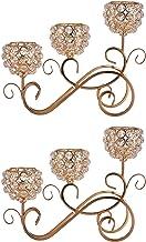 Suporte de vela de cristal de metal de 2x 3 braços Suporte de castiçal Candelabros Centrais de casamento Suporte de vela d...
