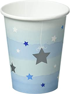 "Creative Converting""One Little Star"" Boy Decorative Paper Cups, Blue/White"