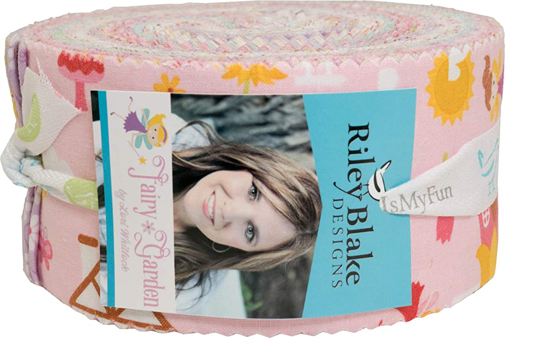 Lori Whitlock Fairy Garden Rolie Polie 40 2.5-inch Strips Jelly Roll Riley Blake Designs RP-7720-40