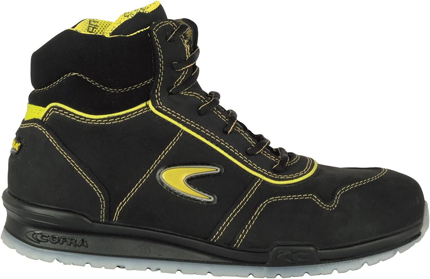 Cofra 78470-002.W46 Size 46 S3 SRC  Eagan  Safety shoes - Black Yellow - EN safety certified