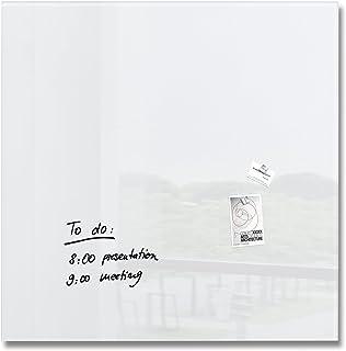 SIGEL GL201 Pizarra magnética de cristal, 100 x 100 cm, blanco puro - Artverum