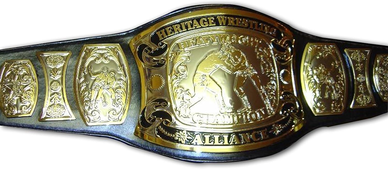 New Year Sale  60 Off  Heritage Wrestling Alliance Championship Replica Title Belt  Brass Metal 4mm Plates