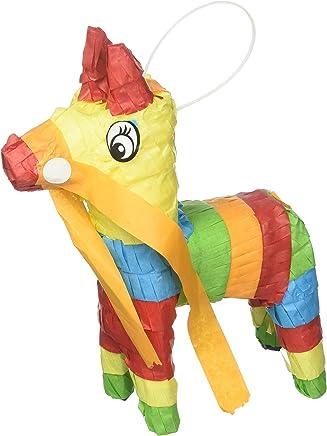"""Amscan 241695 Mini Donkey Pinata Decoration 7 1/2"""" x 5 3/4"""" Multicolor"""
