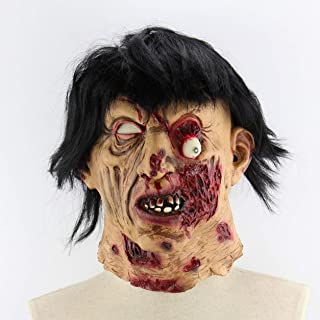 Scary Brunette Zombies Halloween Christmas Room Escape Haunted House Wholesale Props Scary Latex Zombie Ghost Mask - Milticolour