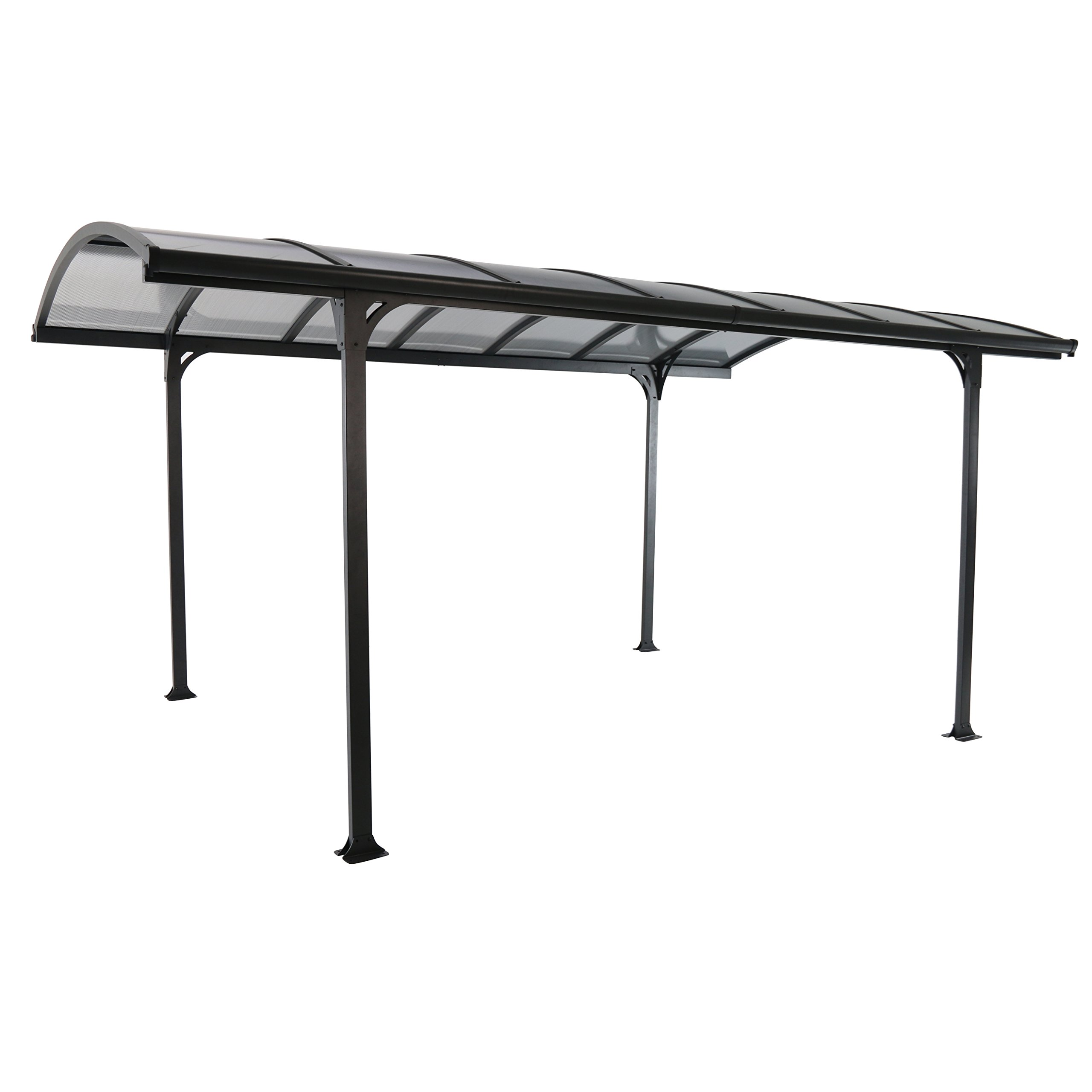 Royal Garden 953403 Carport Gazebo, Antracita, 5 x 3 m: Amazon.es ...
