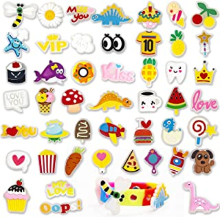 48pcs No Random Glow in the Dark Shoe Charms for Croc, Cute Shoe Pins for Decoration. Party Favor Gift for Kids, Adults, L...