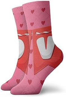 Cartas de amor Calcetines cortos transpirables Calcetines clásicos de algodón de 30 cm para hombres Mujeres Yoga Senderismo Ciclismo