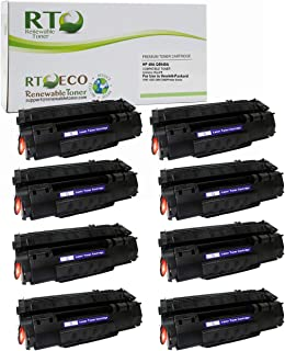 Renewable Toner Compatible Toner Cartridge Replacement for HP 49A Q5949A Laserjet 1160 1320 3390 3392 (Black, 8-Pack)