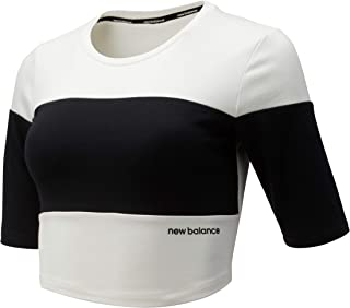 New Balance Women Relentless Blocked Crop Tee Top Performance