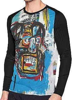 RobinEllis Jean-Michel Basquiat Cotton Mens T Shirt Long Sleeve Contrast Color Man T Shirt Black