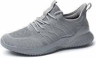 النساء السيدات أحذية التنس الجري المشي أحذية رياضية العمل عارضة مريحة خفيفة الوزن غير زلة رياضة المدربين, (رمادي), 37 EU