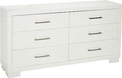 Amazon Com Tvilum Austin 8 Drawer Dresser White Furniture Decor