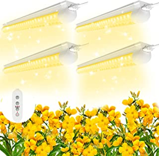 SHOPLED 2ft LED Grow Light Full Spectrum, 80W(4 × 20W), T8 High Output Plant Light Fixture for Sunlight Replacement, Indoo...