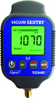 Supco VG640   Vacuum Sentry With Local Alarm, LCD Display, 0-19000 microns Range, 10% Accuracy, 1/4