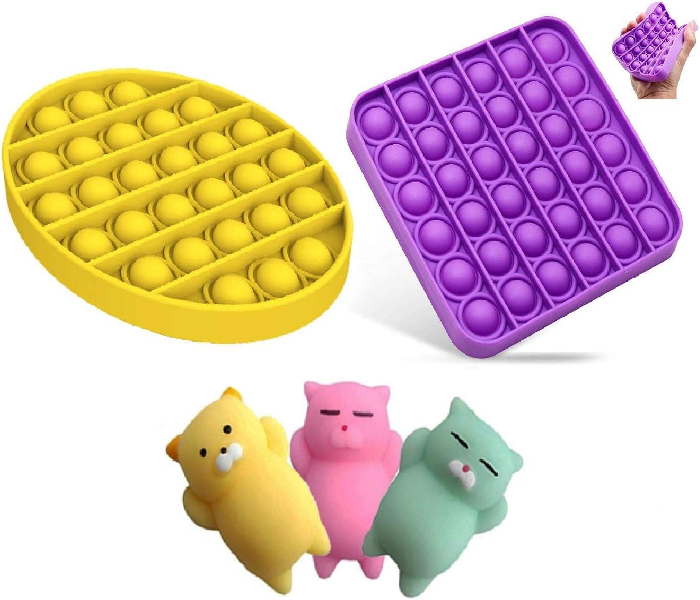 Push Pop Bubble Fidget Sensory Toy -1 Set (5pcs Stress Toys) Str