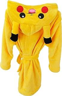Kids Dressing Gowns Bathrobe Unicorn Hood, Girls Boys Fleece Kigurumi Cartoon Morning Housecoat Nightwear Pyjamas
