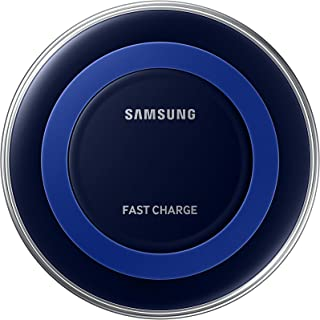 Samsung Qi Certified Fast Charge Wireless Charger Pad (Includes Wall Charger) Universally compatible with all Qi enabled phones - Black/Blue (2 PACK) (Renewed)