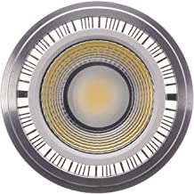 EMGQ Energiebesparende gloeilamp LED-lampen 2 stks LED-spotlights Bold Aluminium AR111 7W ES111 Bron 12 V COB (Color : Ac/...