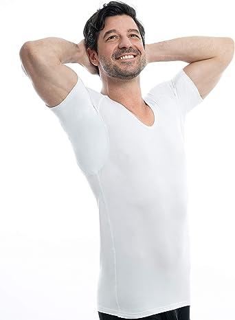 SWEAT-SAFE COMPANY® Camiseta Anti-Sudor contra Las Manchas de Sudor - Minimiza los olores - Reemplaza Las Almohadillas de Sudor - Camiseta para ...