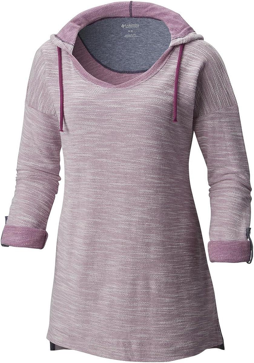 Columbia Coastal Escape Plus Size Hoodie Sweatshirt à Capuche Femme Violet Chiné Intense