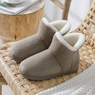 None/Brand Women Winter Slippers Warm Plush Slip-on Couples Home Floor Shoes Anti-slip Comfortable Flats Female Warm Faux ...