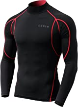 TSLA Men's Mock/Round Long-Sleeved T-Shirt Cool Dry Compression Baselayer Top