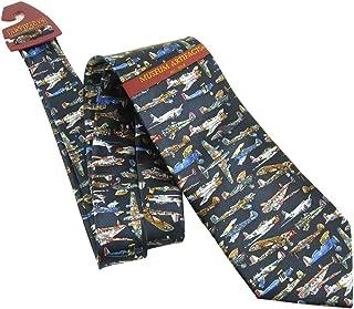 Museum Artifacts 100% Silk WWI & II Airplanes Aviation Tie Necktie Neckwear