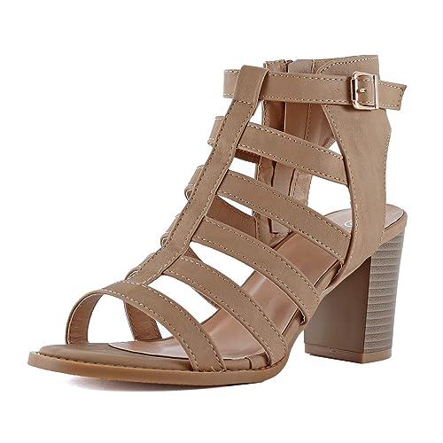 1ab267c62c21 Brown Strappy Heels  Amazon.com