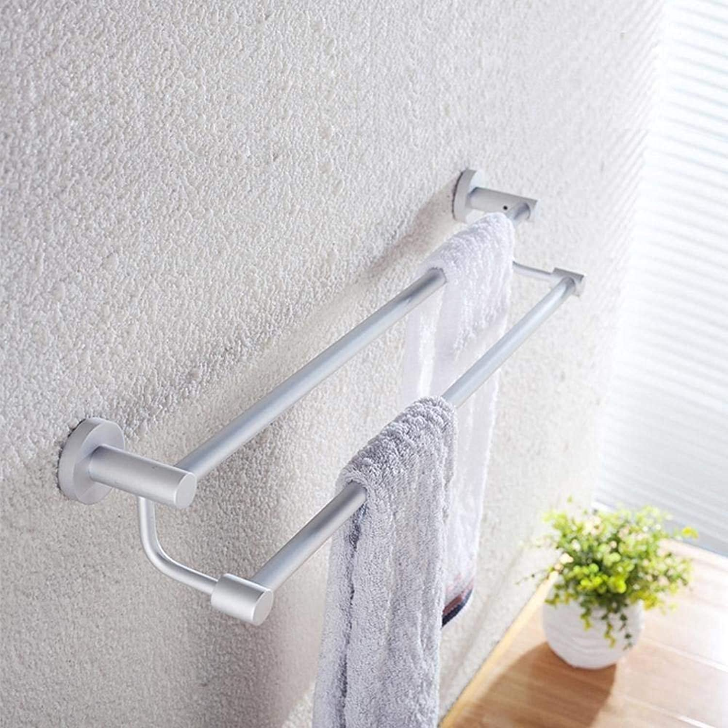 The Aluminum, The Space of Bathroom, Double Dry-Towels Rack