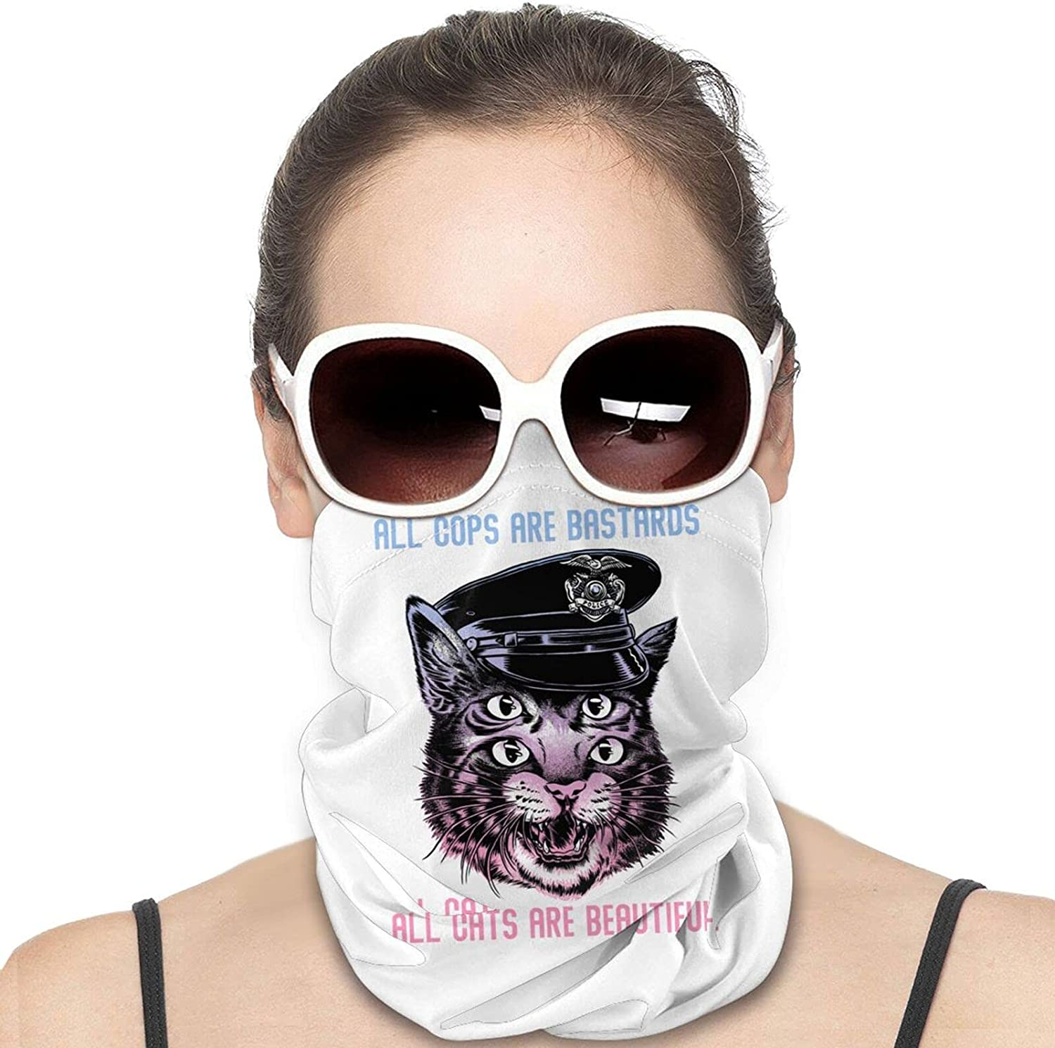 ACAB-All Cops Are Bastards Round Neck Gaiter Bandnas Face Cover Uv Protection Prevent bask in Ice Scarf Headbands Perfect for Motorcycle Cycling Running Festival Raves Outdoors