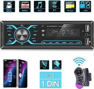 ANKEWAY 2021 Nuevo Táctil Radio Coche Autoradio Bluetooth 1 DIN con App Control y Remoto del Volante, Llamadas Manos Libre...