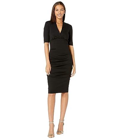 Nicole Miller Joss Ponte Dress (Black) Women