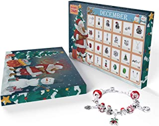 Christmas Advent Calendar 2019 Charm Bracelet 24 Days Countdown Calendars Jewelry Set for Kids/Childs New Year Gift - 1 Br...