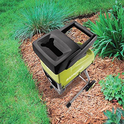 Sun Joe CJ603E 15-Amp 1.7-Inch Thick Electric Wood Chipper/Shredder, Green