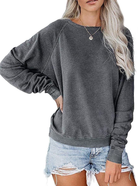 JomeDesign Womens Long Sleeve Camouflage Print Pullover Crewneck Sweatshirt Casual Tops Raglan Shirt