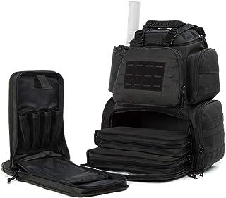 AUMTISC Gun Range Bag for Handguns Tactical Backpack with 3-Pistol Case