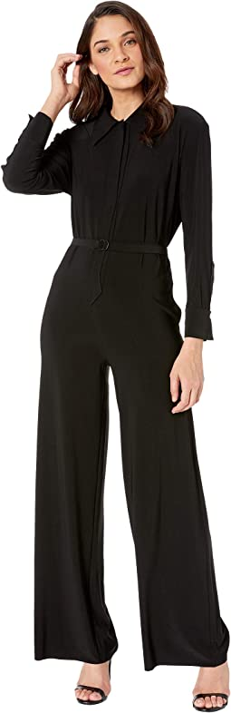 NK Shirt Straight Leg Jumpsuit