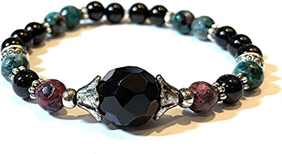 ruby in black tourmaline