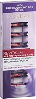 L'OREAL Paris Revitalift Filler Hyaluronic Acid Replumping Ampoules 7 Day Anti Ageing Skin Treatment 7 x 1.3 ml