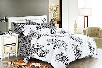 Chateaux Quilt Cover Set, 3 Piece Duvet Cover Set Includes 2 Pillowcases, Doona Cover Set (Queen Size)