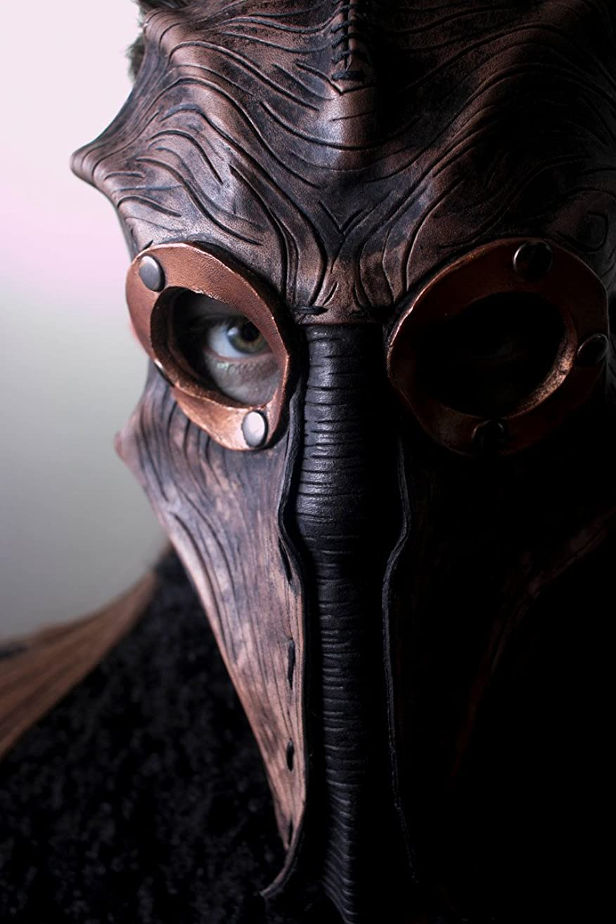 Steampunk Inspired Handmade Genuine Leather Mask in Brown for Masquerades Cosplay or Halloween Costumes - The Future of Man