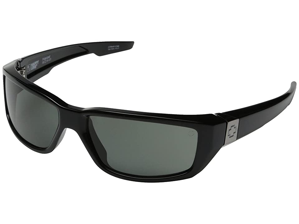Spy Optic Dirty Mo (Black w/ Signature/Happy Gray Green Polar) Sport Sunglasses
