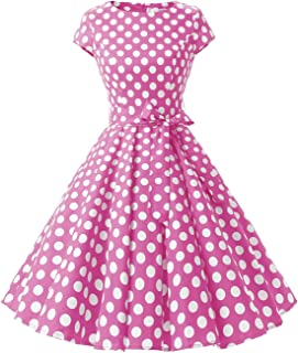 Dressystar Women Vintage 1950s Retro Rockabilly Prom Dresses Cap-Sleeve 44b724608217