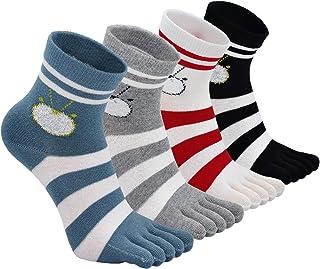 Calcetines con Cinco dedos para Mujer, Calcetines de Deportes de Algodón, 4/5 pares