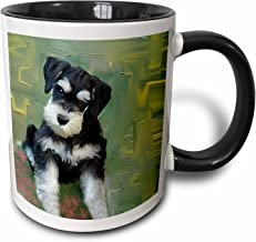 "Saxton mug_4158_4 ""Miniature Schnauzer"" Two Tone Black Mug, 11 oz, Multicolor"