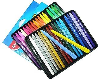 Sotoboo 36 colores Crayones de cera, no tóxico, plástico borrable, plastidecor para colorear Crayones para niños y niñas adultos pintura niños escuela oficina suministros de arte